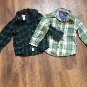Carter's size 3 tea longsleeve shirts